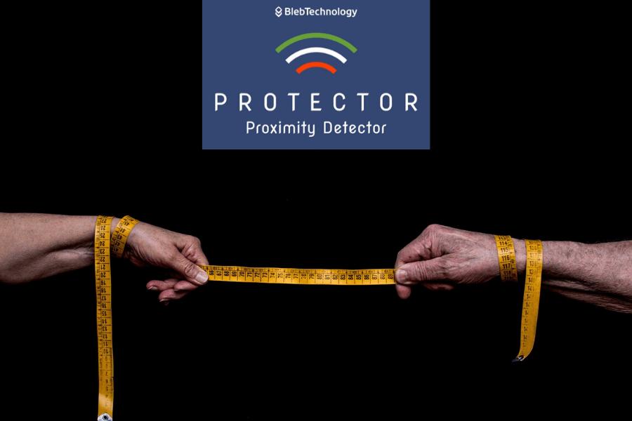Il Protector è Utilizzato Come Wearable Device Per Supportare Il Distanziamento Sociale E Per Tracciare I Contagi
