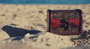 Spiaggia Con Scrigno