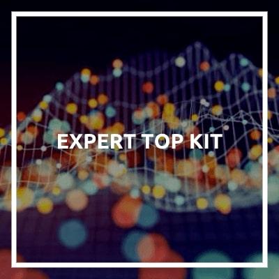 L'Expert Top Kit include BLE-B, ENV, PRT, RHT, UVA, RGB, RPS, XPS, IMU, PDM, CAP, IRR, PCB, VBR, BUZ, WPL, IRT, REL, SMS, IB2, e IB3.